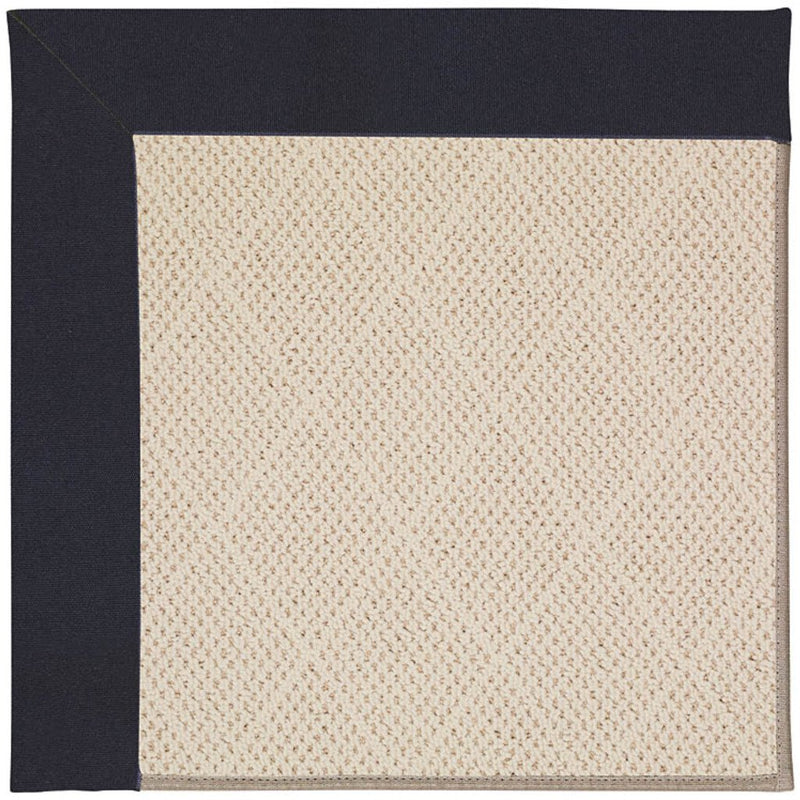 Creative Concepts-White Wicker Canvas Navy Machine Tufted Rug Rectangle image