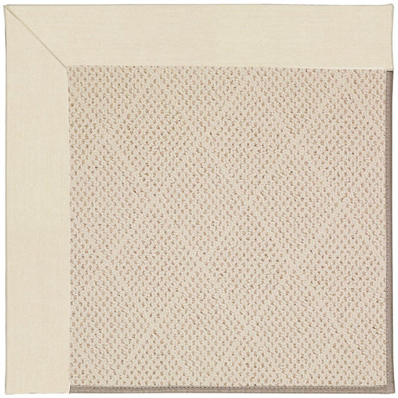 Creative Concepts-White Wicker Canvas Sand Machine Tufted Rug Rectangle image