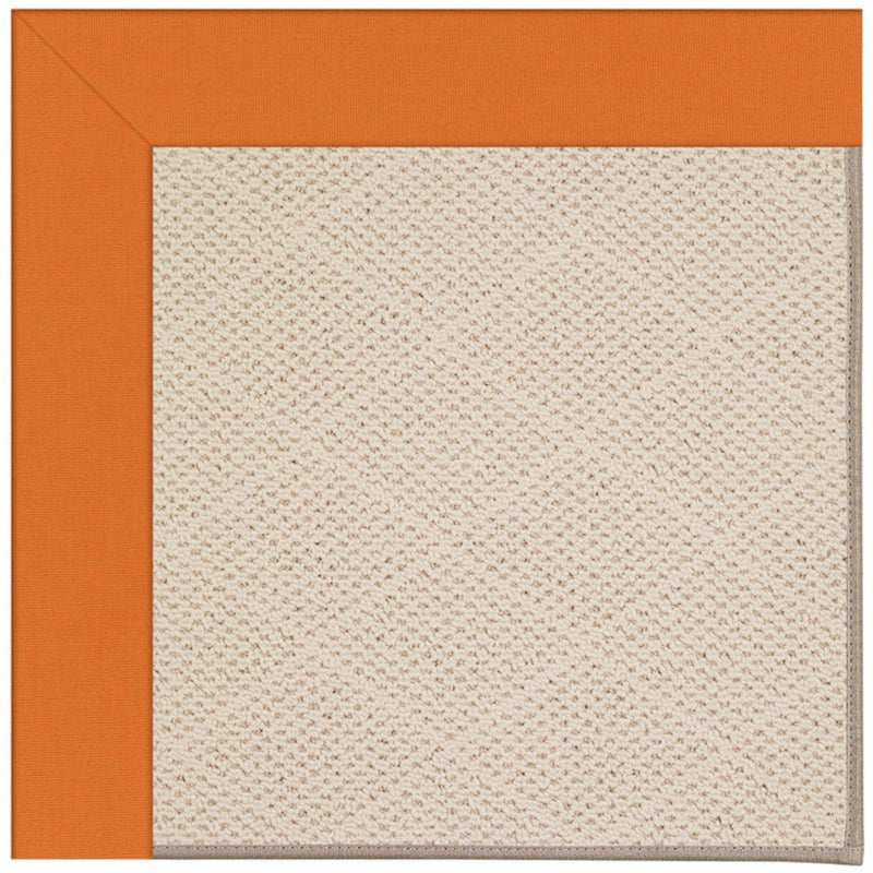 Creative Concepts-White Wicker Canvas Tangerine Machine Tufted Rug Rectangle image