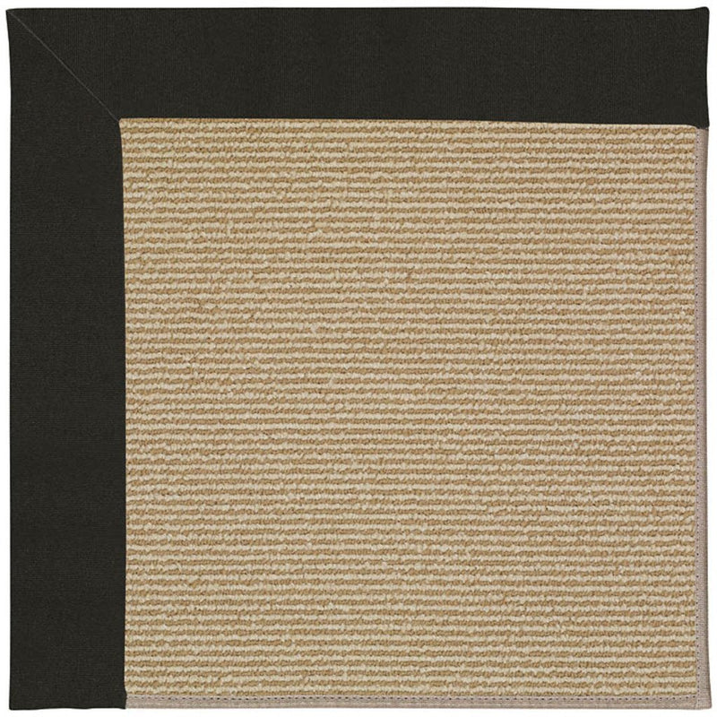 Creative Concepts-Sisal Canvas Black Machine Tufted Rug Runner image