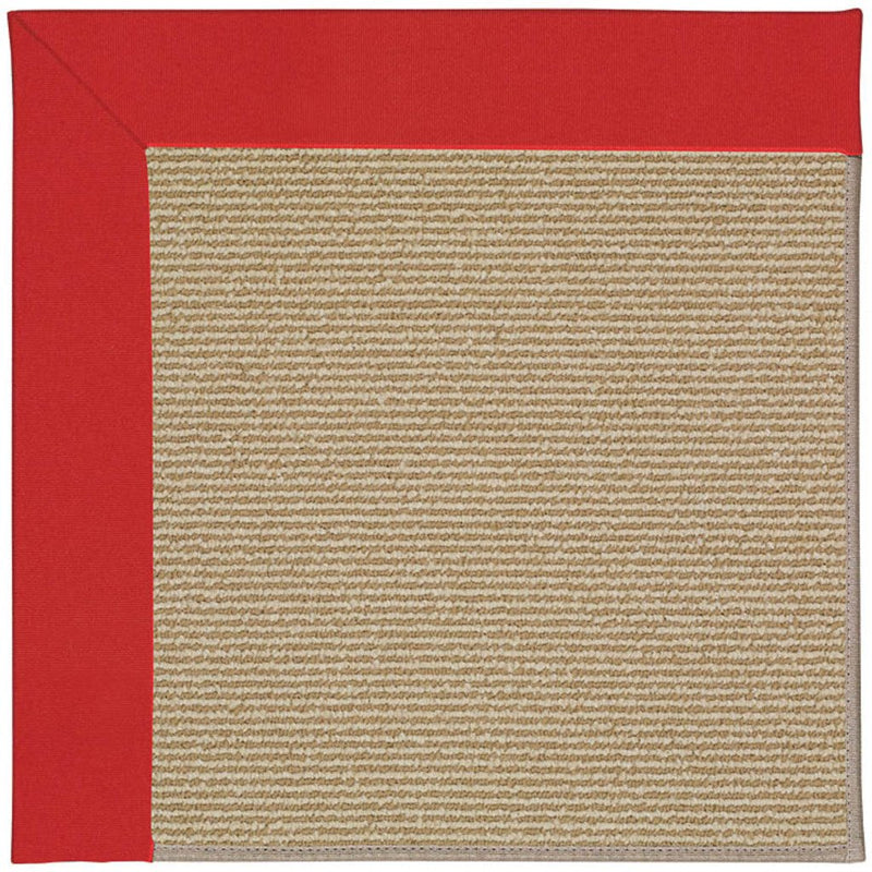 Creative Concepts-Sisal Canvas Jockey Red Machine Tufted Rug Rectangle image