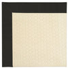 Creative Concepts-Sugar Mtn. Canvas Black Machine Tufted Rug Rectangle image
