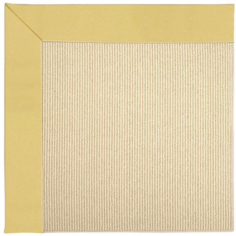 Creative Concepts-Beach Sisal Canvas Canary Machine Tufted Rug Rectangle image