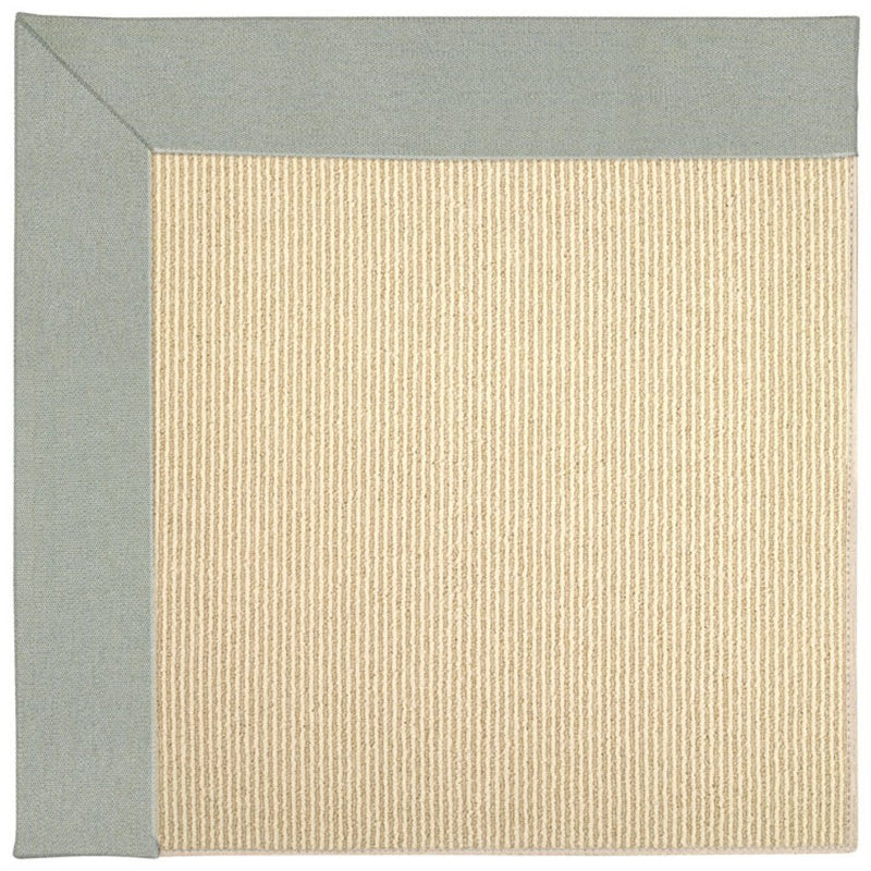Creative Concepts-Beach Sisal Canvas Spa Blue Machine Tufted Rug Rectangle image
