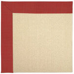 Creative Concepts-Beach Sisal Dupione Crimson Machine Tufted Rug Runner image
