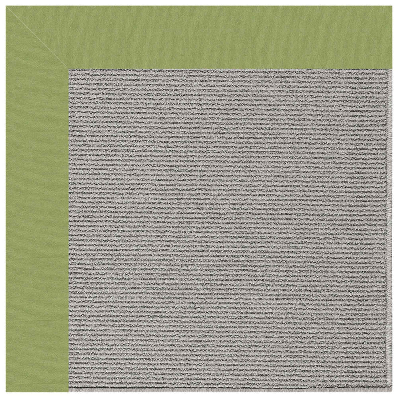 Creative Concepts-Plat Sisal Canvas Citron Indoor/Outdoor Bordere Rectangle Corner image