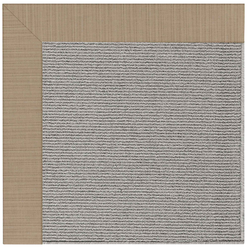Creative Concepts-Plat Sisal Dupione Sand Indoor/Outdoor Bordere Rectangle Corner image