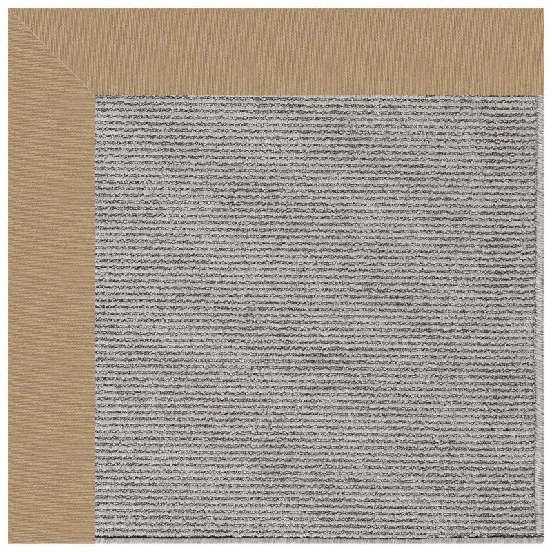 Creative Concepts-Plat Sisal Canvas Camel Indoor/Outdoor Bordere Rectangle Corner image