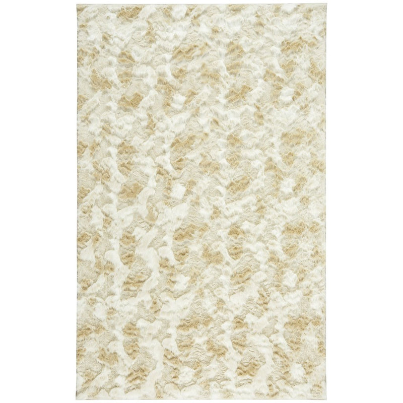 Luxe Shag Artic Cream Machine Woven Rug Rectangle image