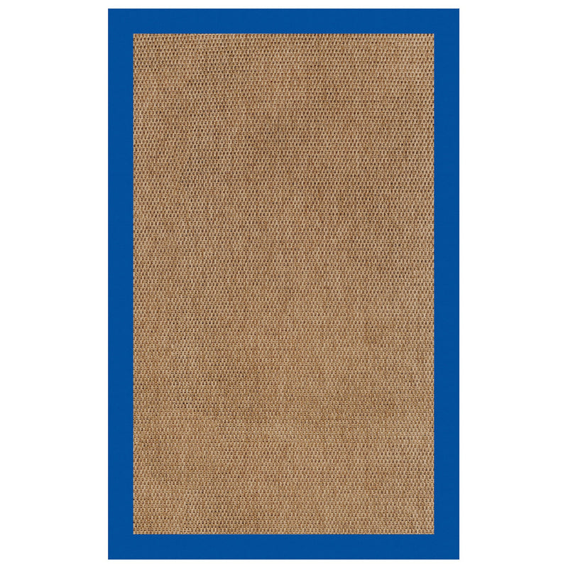 Islamorada-Basketweave Canvas Pacific Blue Indoor/Outdoor Bordere Rectangle image