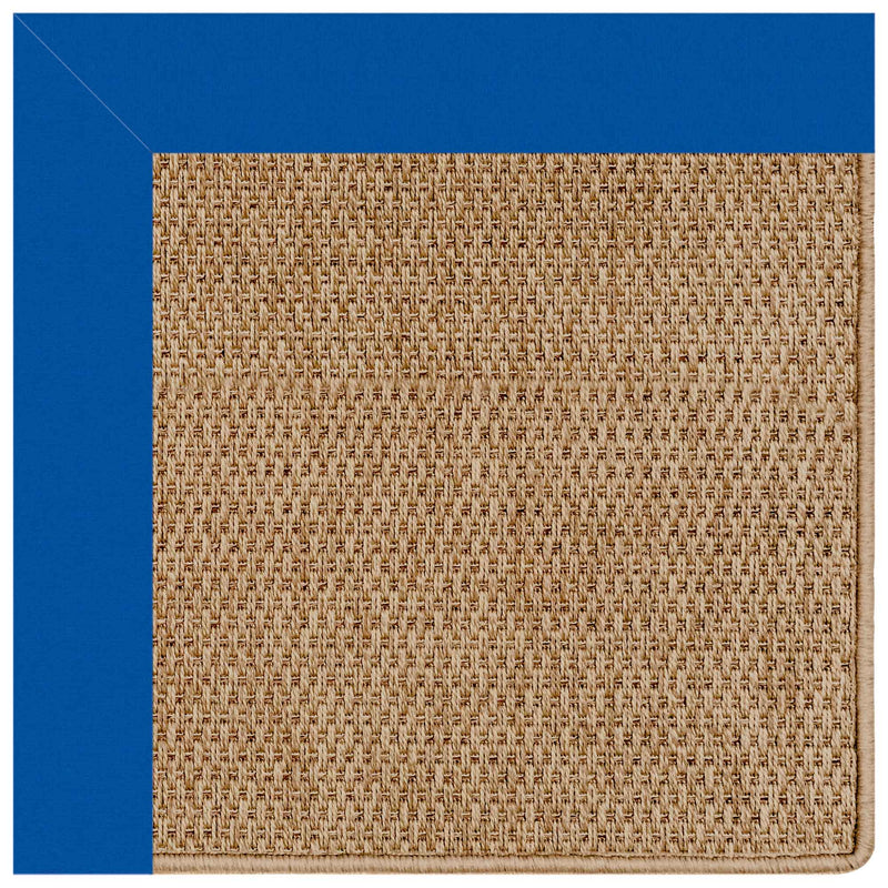 Islamorada-Basketweave Canvas Pacific Blue Indoor/Outdoor Bordere Rectangle Corner image