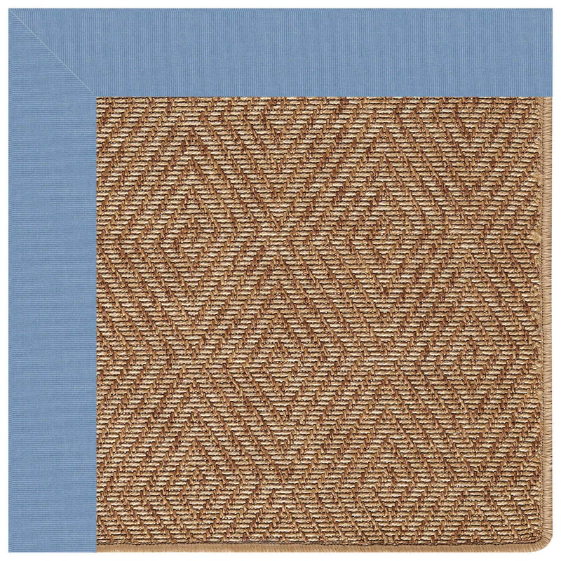 Islamorada-Diamond Canvas Air Blue Indoor/Outdoor Bordere Rectangle Corner image