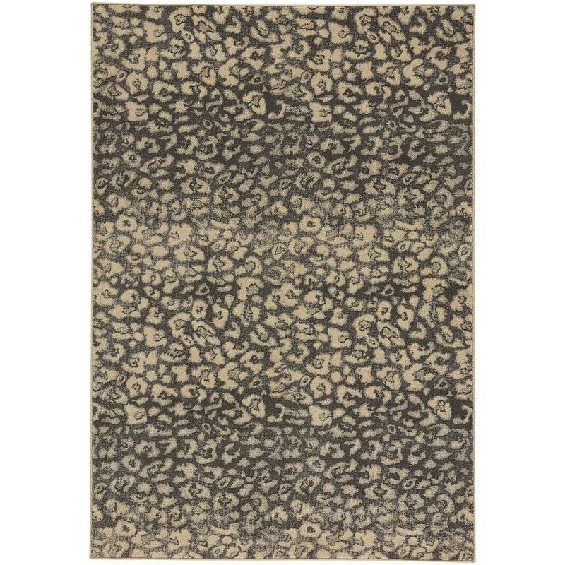 Leopard Charcoal Machine Woven Rug Rectangle image