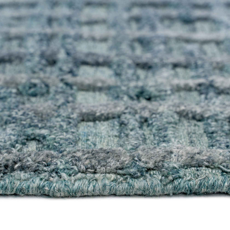 Cambria Azurine Hand Loomed Area Rug Rectangle Cross Section image