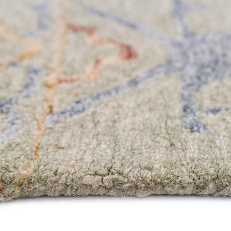 Avanti-Oushak Natural Multi Hand Tufted Rug Rectangle Cross Section image