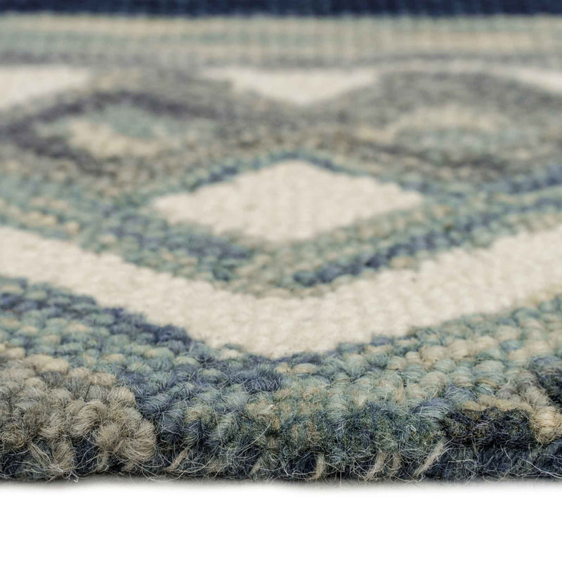 Avanti-Kelim Alpine Blue Hand Tufted Rug Rectangle Cross Section image