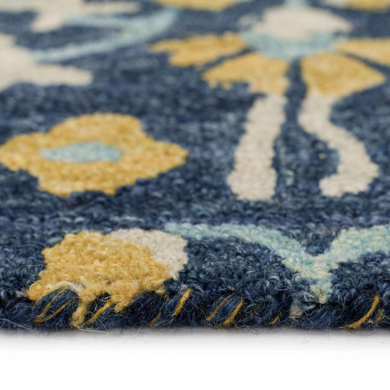Gypsy-Lonar Copen Blue Hand Tufted Rug Rectangle Cross Section image