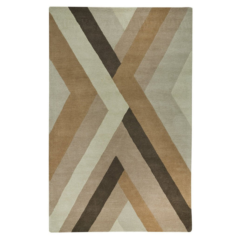 Intersection Sand Hand Tufted Rug Rectangle image