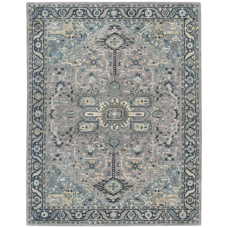 Izmir-Serapi Grey Blue Hand Tufted Rug Rectangle image