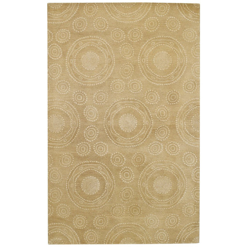 Spinning Wheels Straw Hand Tufted Rug Rectangle image