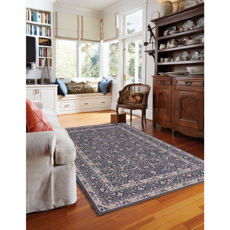 Metropolis-Ziegler Deep Blue Machine Woven Rug Rectangle image