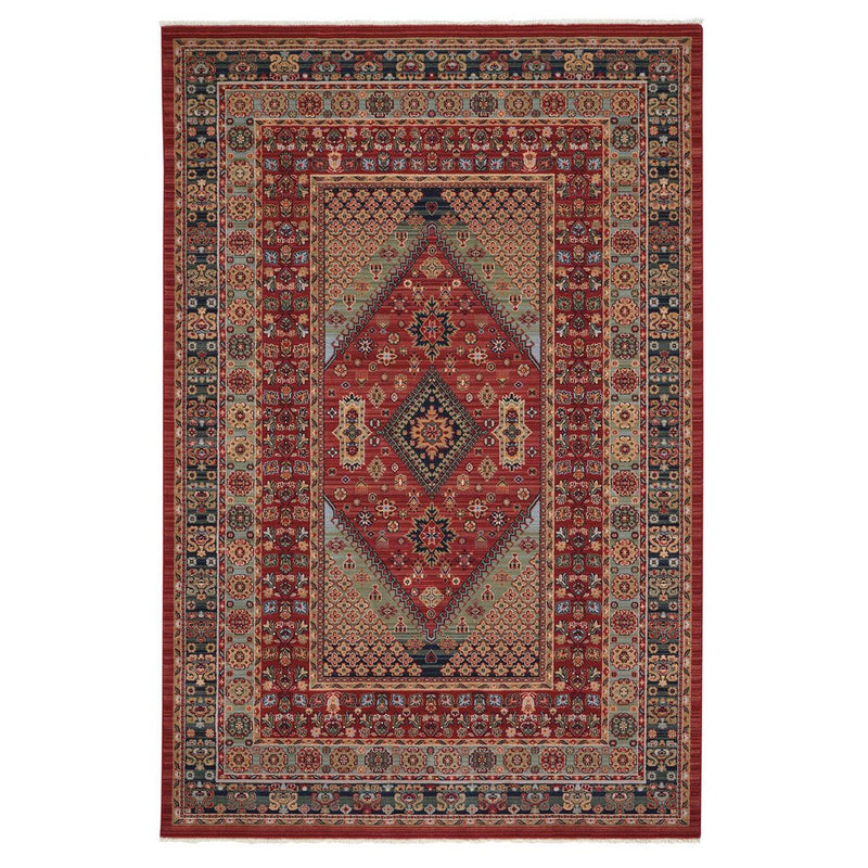 Lineage-Heriz Rust Mist Machine Woven Rug Rectangle image