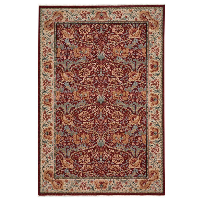 Lineage-Nouveau Red Ivory Machine Woven Rug Rectangle image