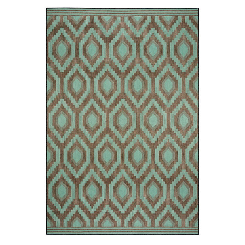 Cliffside Diamond Machine Woven Rug Rectangle Roomshot image