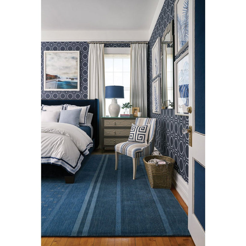 Simply Gabbeh Taos Blue Hand Loomed Area Rug Rectangle image