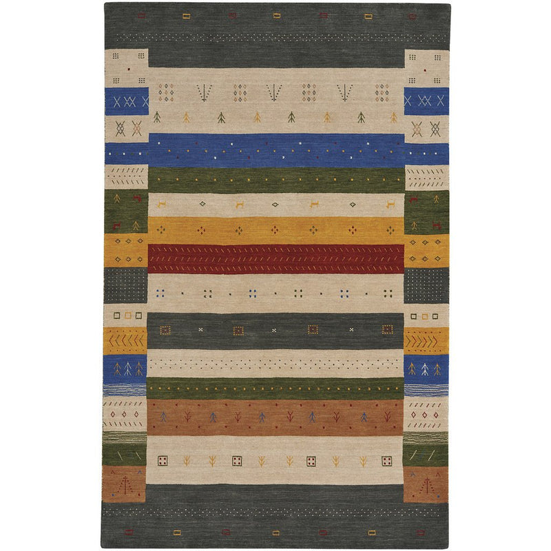 Simply Gabbeh Multi Hand Loomed Area Rug Rectangle image