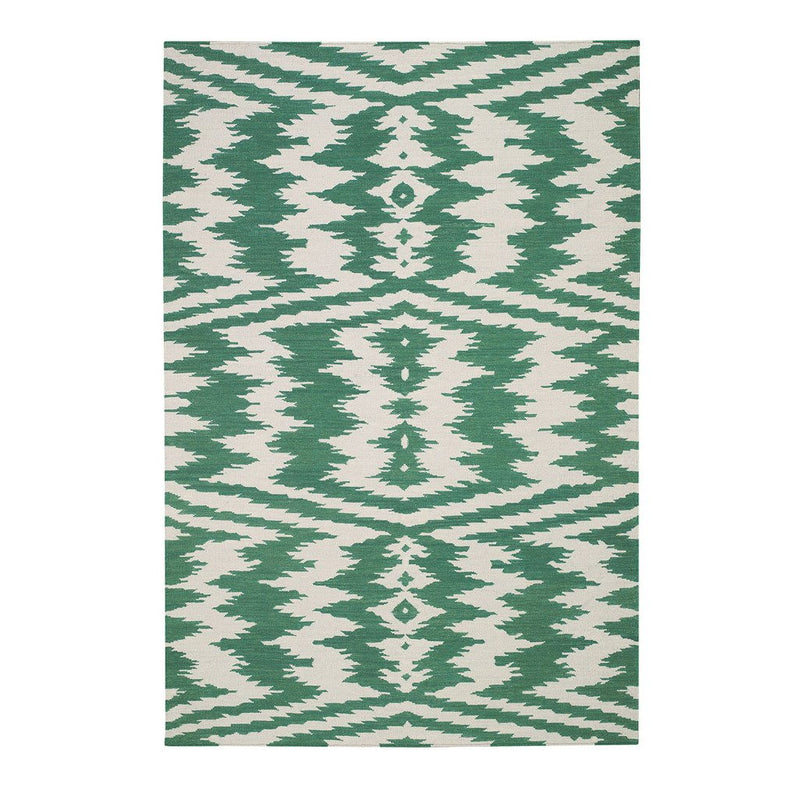 Uzbek Emerald Flat Woven Rug Rectangle image