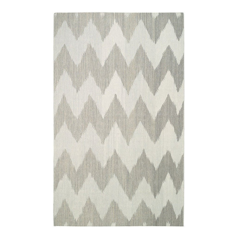 Wild Chev Stone Flat Woven Rug Rectangle image
