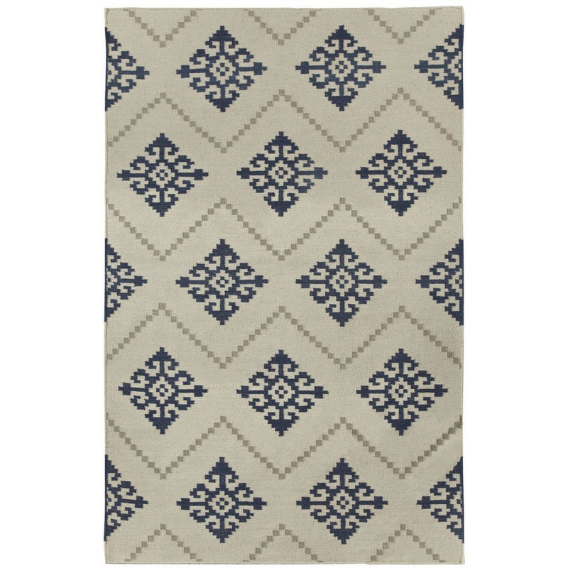 Sno Bokrum Blue Flat Woven Rug Rectangle image