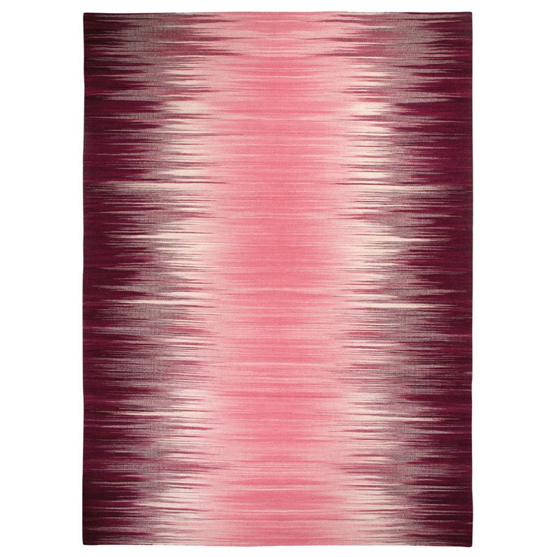 Flash Pink Flat Woven Rug Rectangle image