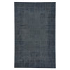 Laramie-Brushed Blocks Midnight Flat Woven Rug Rectangle image