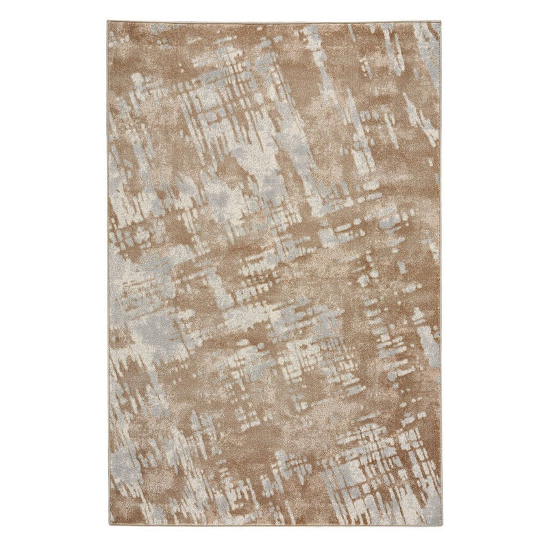 Brushstrokes Marble Machine Woven Rug Rectangle image