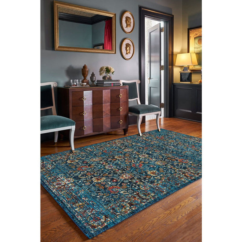 Banaz-Kayseri Midnight Blue Machine Woven Rug Rectangle image