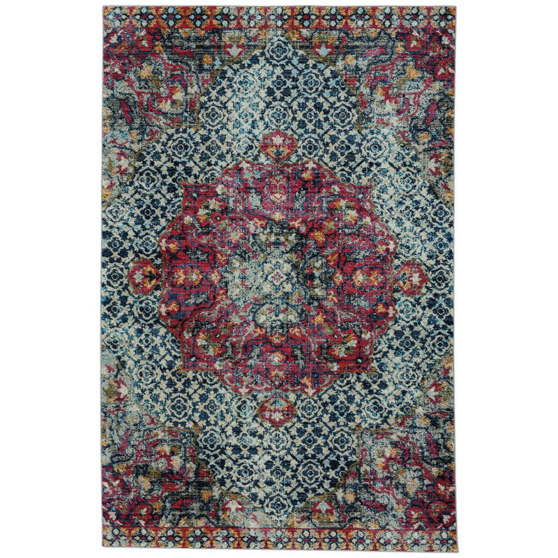 Banaz-Ezine Gypsy Red Machine Woven Rug Rectangle image