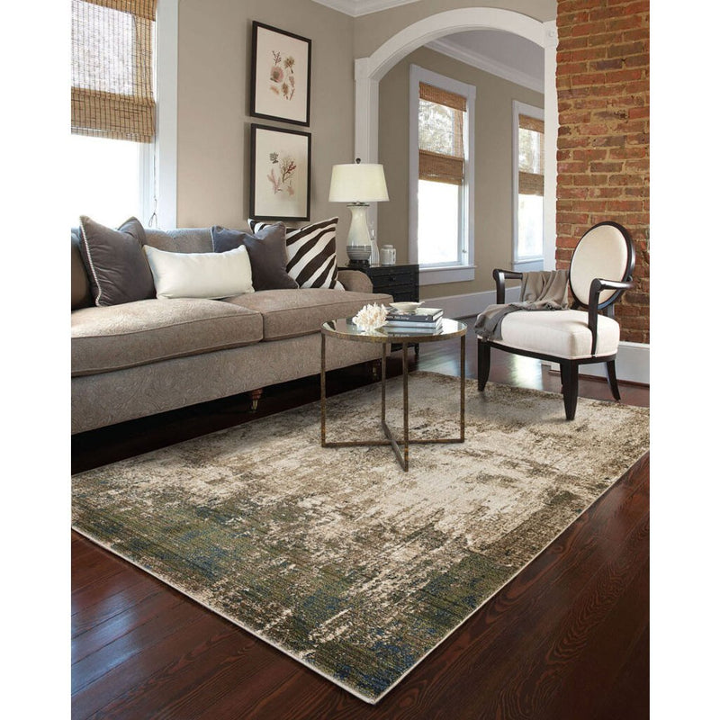 Landis-Abstract Stone Multi Machine Woven Rug Rectangle image