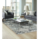 Landis-Isfahan Charcoal Machine Woven Rug Rectangle image