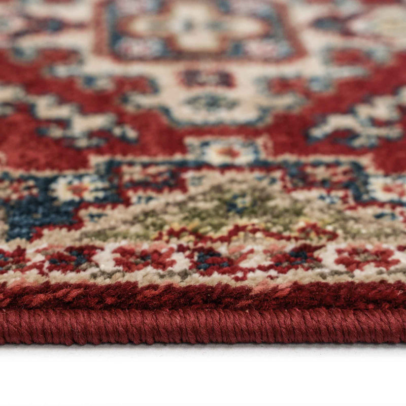 Landis-Kazak Classic Red Machine Woven Rug Rectangle Cross Section image