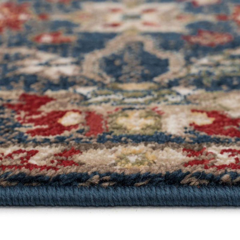 Landis-Keshan Cerulean Blue Machine Woven Rug Rectangle Cross Section image