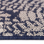 Finesse-Mandala Navy Machine Woven Rug Rectangle Cross Section image