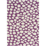 Up In the Air-Stars Violet Machine Woven Rug Rectangle image
