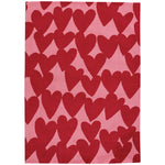 Sweet Treats-Hearts Dark Red Machine Tufted Rug Rectangle image
