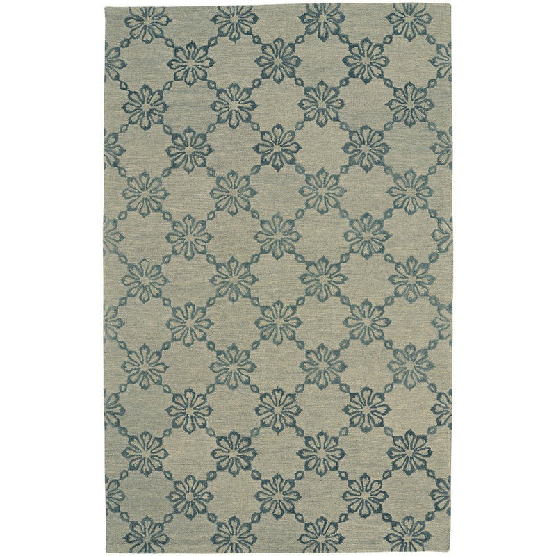Daisy Chain Castle Grey Hand Tufted Rug Rectangle image