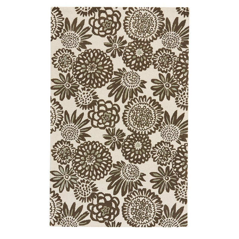 Flower Pop Chocolate Hand Tufted Rug Rectangle image