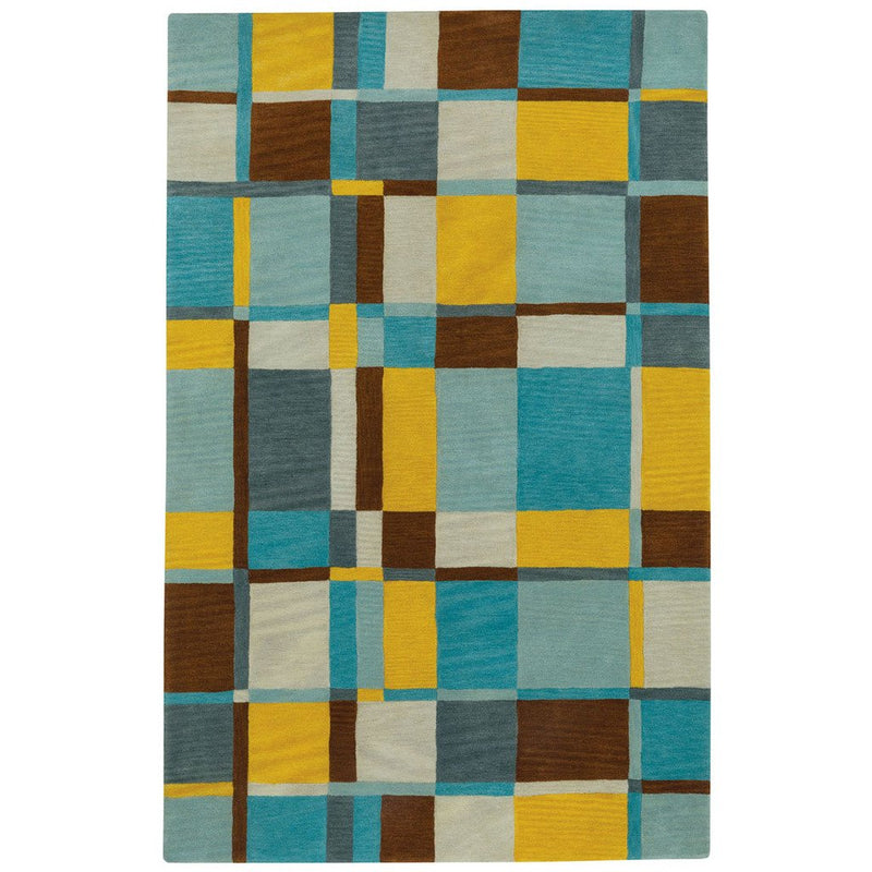 Tempo Groovy Gold Hand Tufted Rug Rectangle image