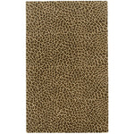 Safari-Leopard Brown Hand Tufted Rug Rectangle image