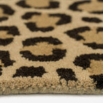 Safari-Leopard Brown Hand Tufted Rug Rectangle Cross Section image